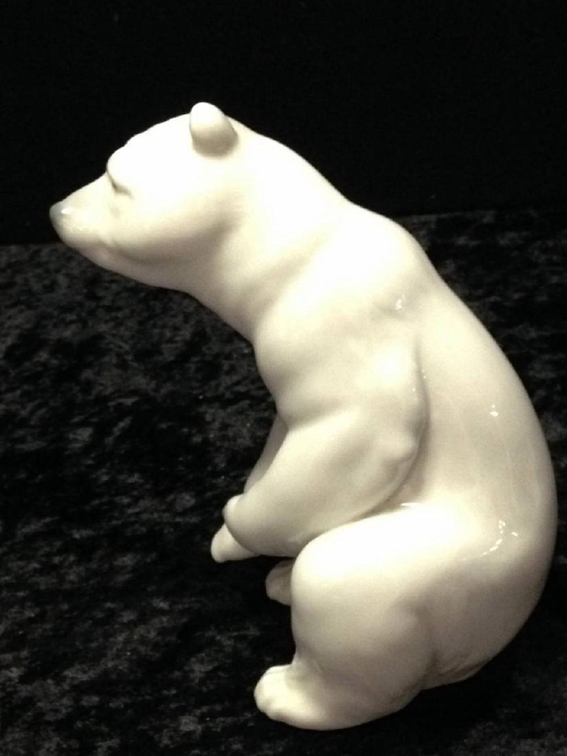 Lladro Polar Bear Sitting Approx 4.5 Inches Tall - 4
