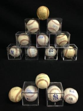 Lot Of 15 Signed Baseballs Some In Poor Condition