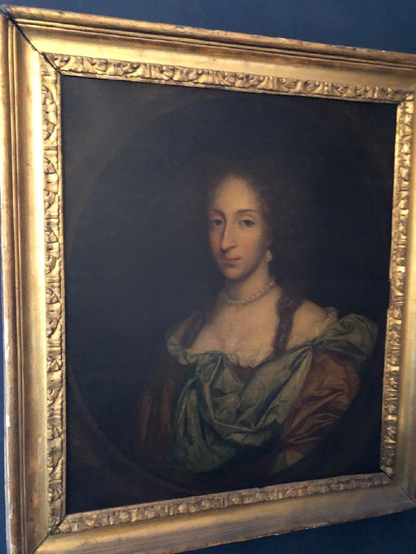 18thC Painting of Woman Oil on Canvas Has Been Restored