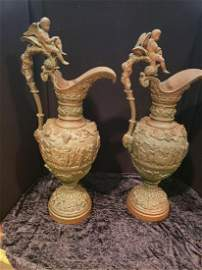 Pair of 14th c Bronze Ewers AS IS PICK UP IN