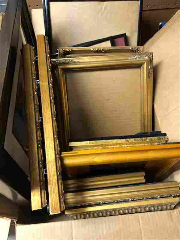 Lot of Assorted Black and Gold Frames PICK UP IN