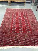 Red And Blue And White Wool Area Rug Approx 5x8