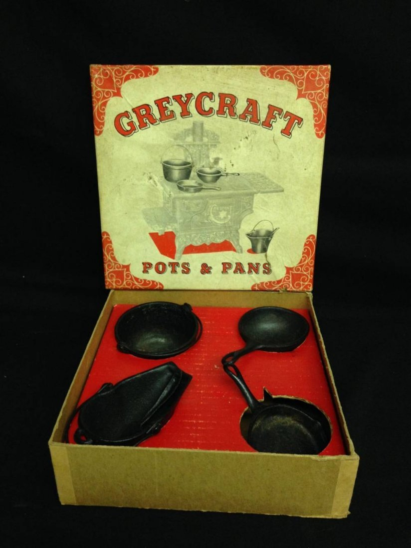 Grey Craft Iron Toy Pots And Pans In Original Box