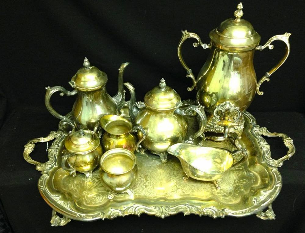 Rogers Silver Plate Tea And Coffee Set