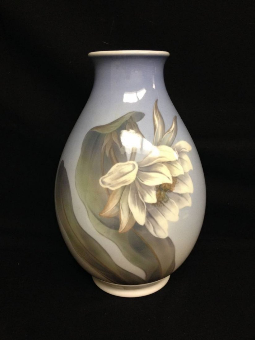 Royal Coppenhagen Floral Vase Approx 12.5 Inches Tall