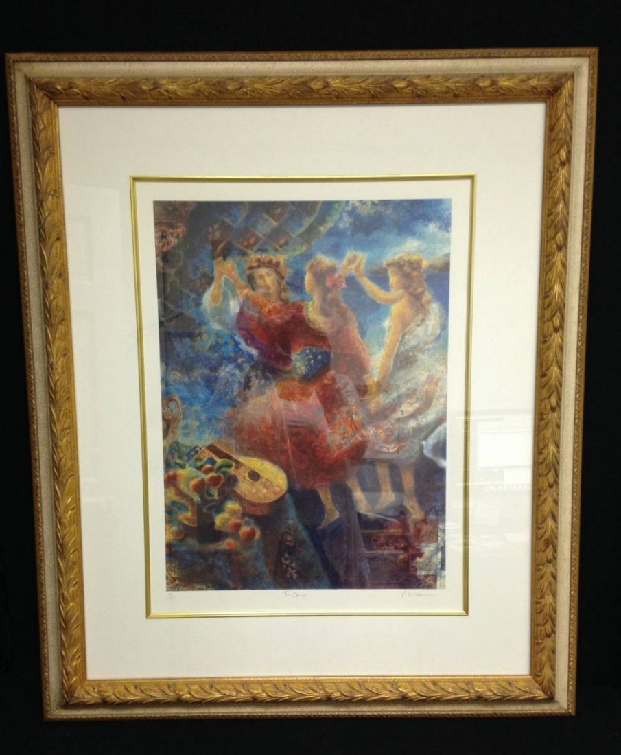 Artist Unknown Signed The Dance Framed 37.5X30
