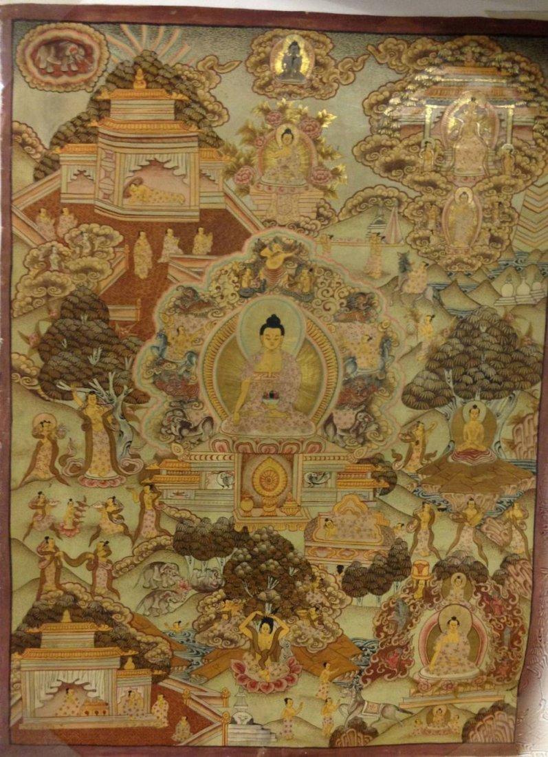 Indian Tibetan Painting 26 L x19 W