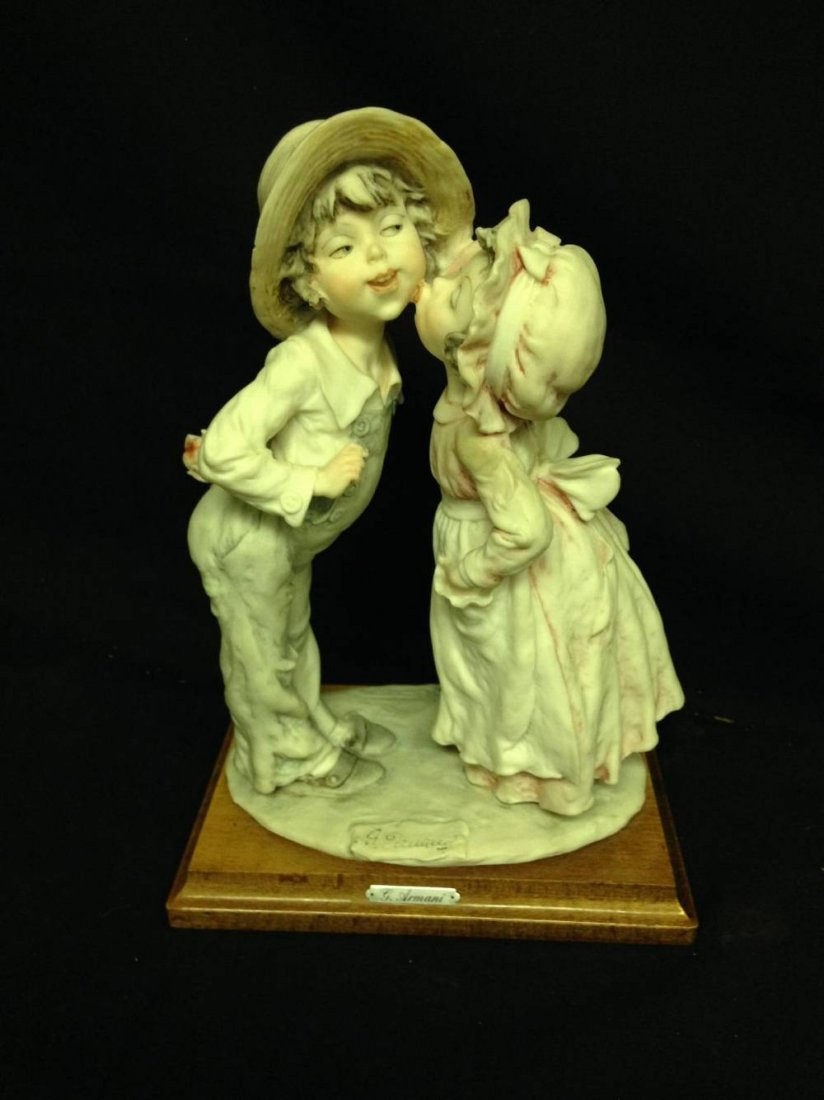 G Armani Figurine Little Girl And Boy First Kiss Approx