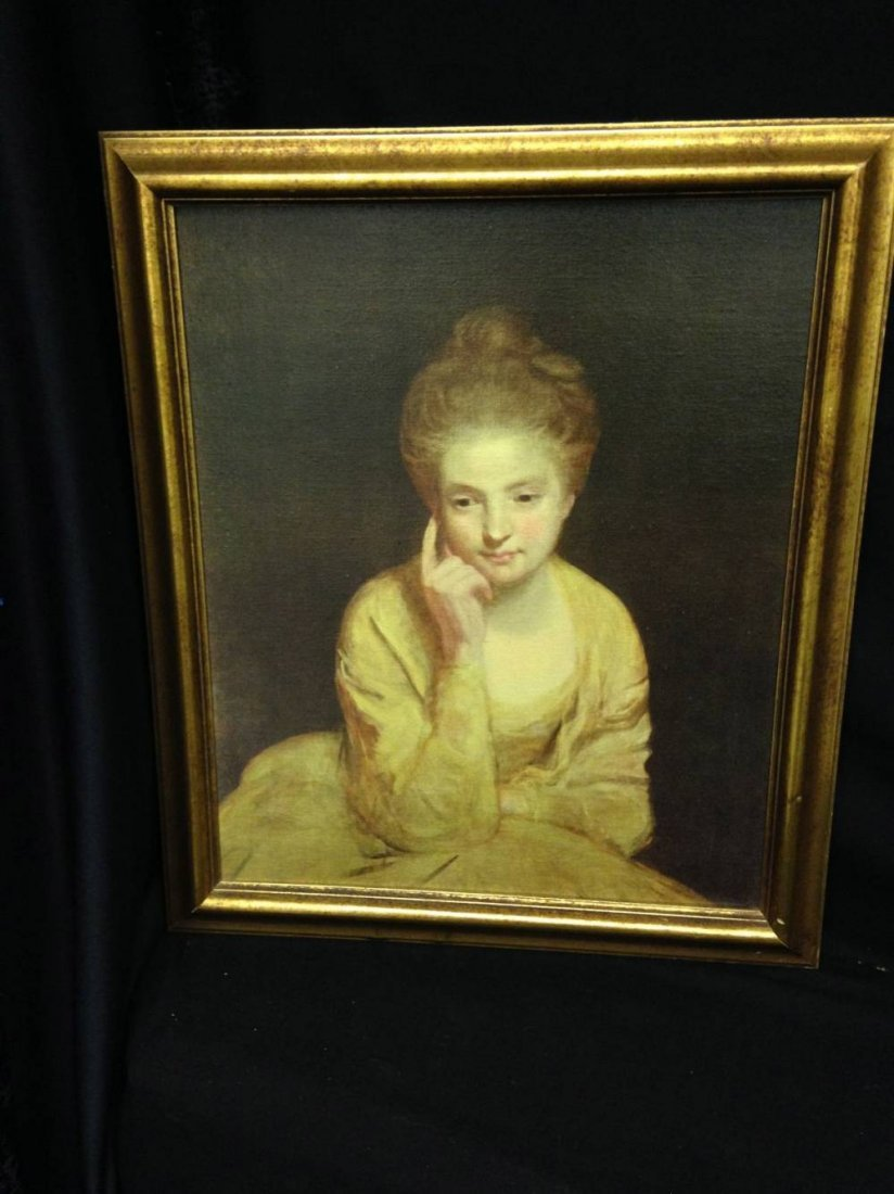 Sir Joshua Reynolds 1723 1792 Lady In Yellow Oil On
