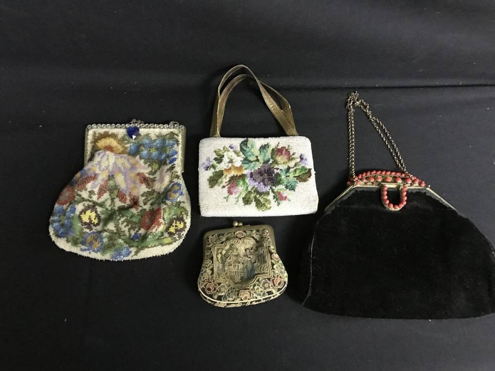 Lot Of 4 Small Antique Purses