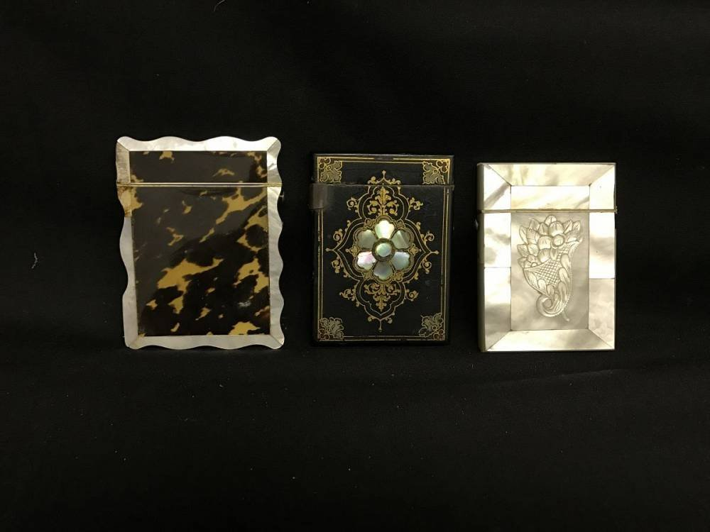 Lot Of 3 Antique Card Cases
