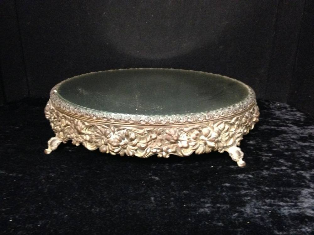 Lot Of 2 Silver Plate Antique Dresser Mirrors Approx 12