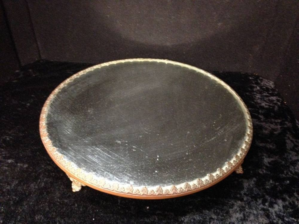 Lot Of 2 Silver Plate And Bronze Antique Dresser