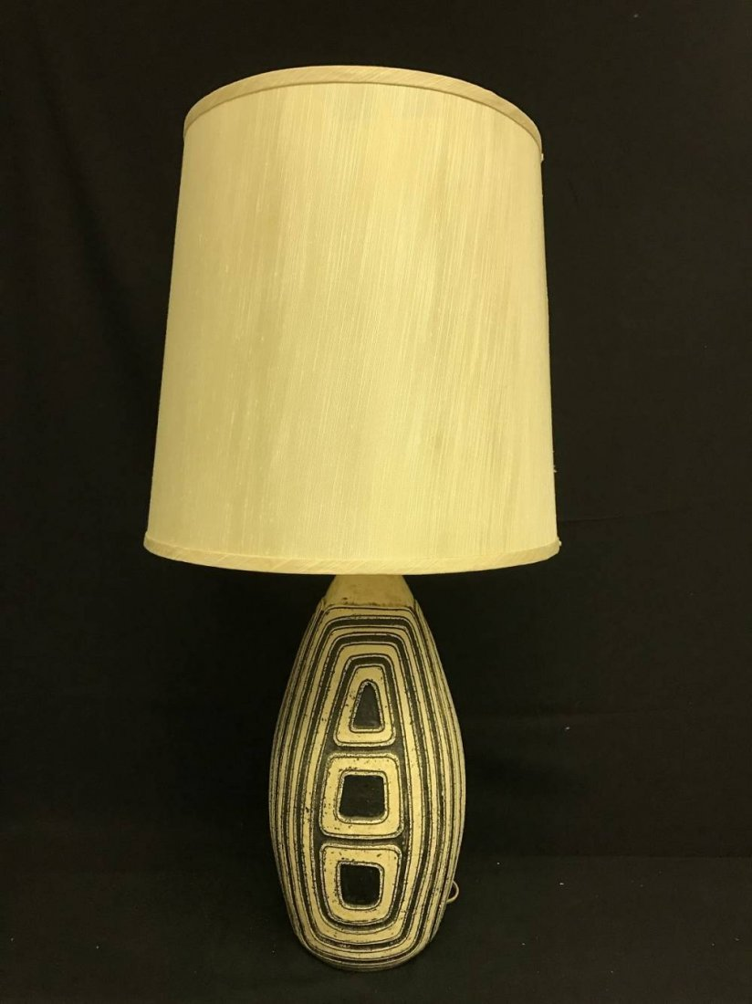 Mid Century Pottery Lamp Approx 31 Inches Tall