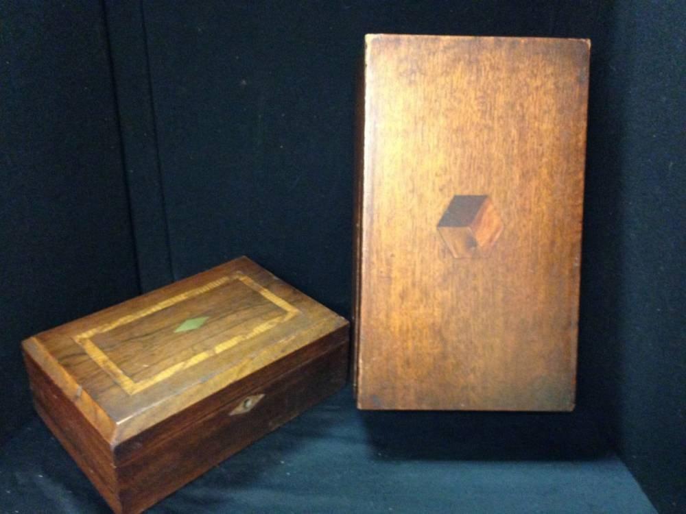 Pair Of Antique Inlaid Boxes