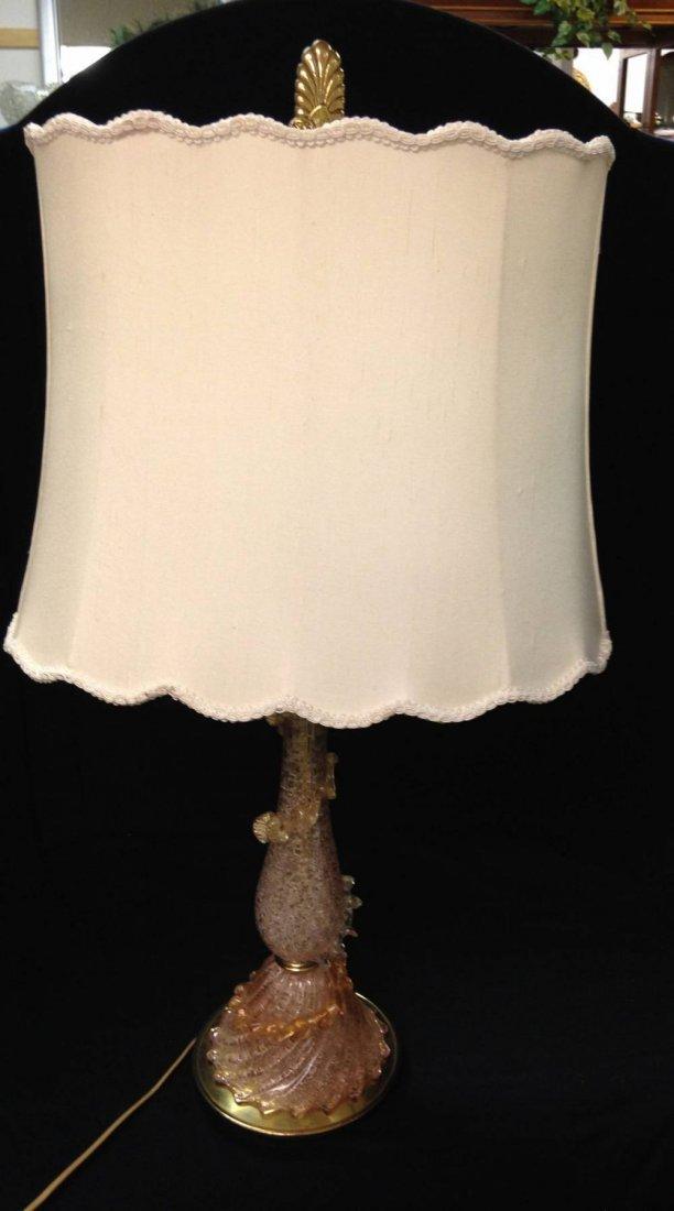 Vintage Murano  Pink And Gold Lamp Slight Damage Pick