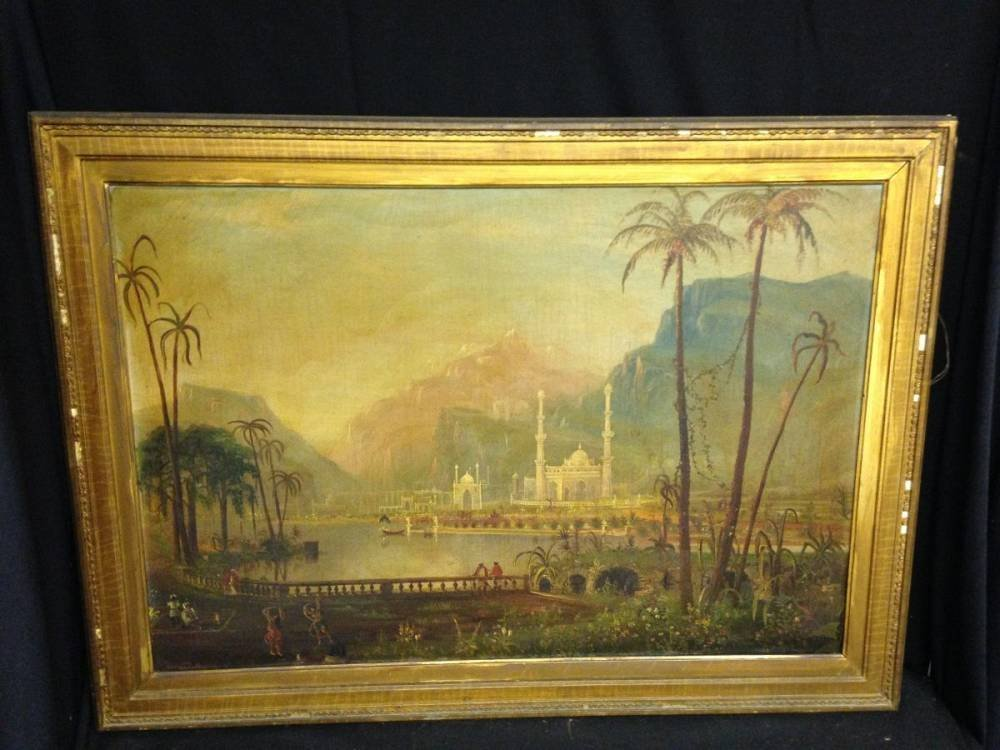 Daniel Grose Oil On Canvas Palace India Framed