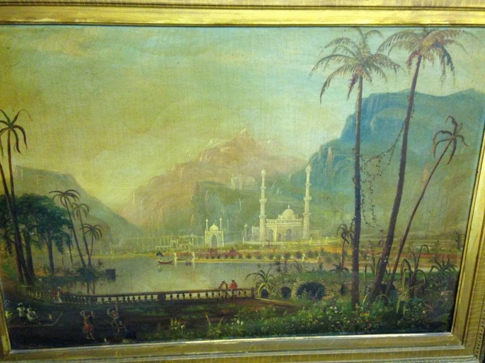 Daniel Grose Oil On Canvas Palace India Framed - 2