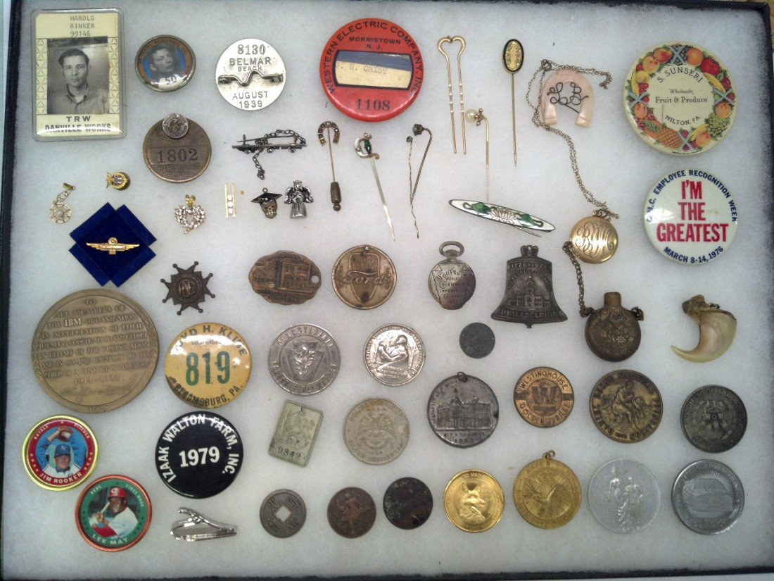 Tray lot collector coins & more