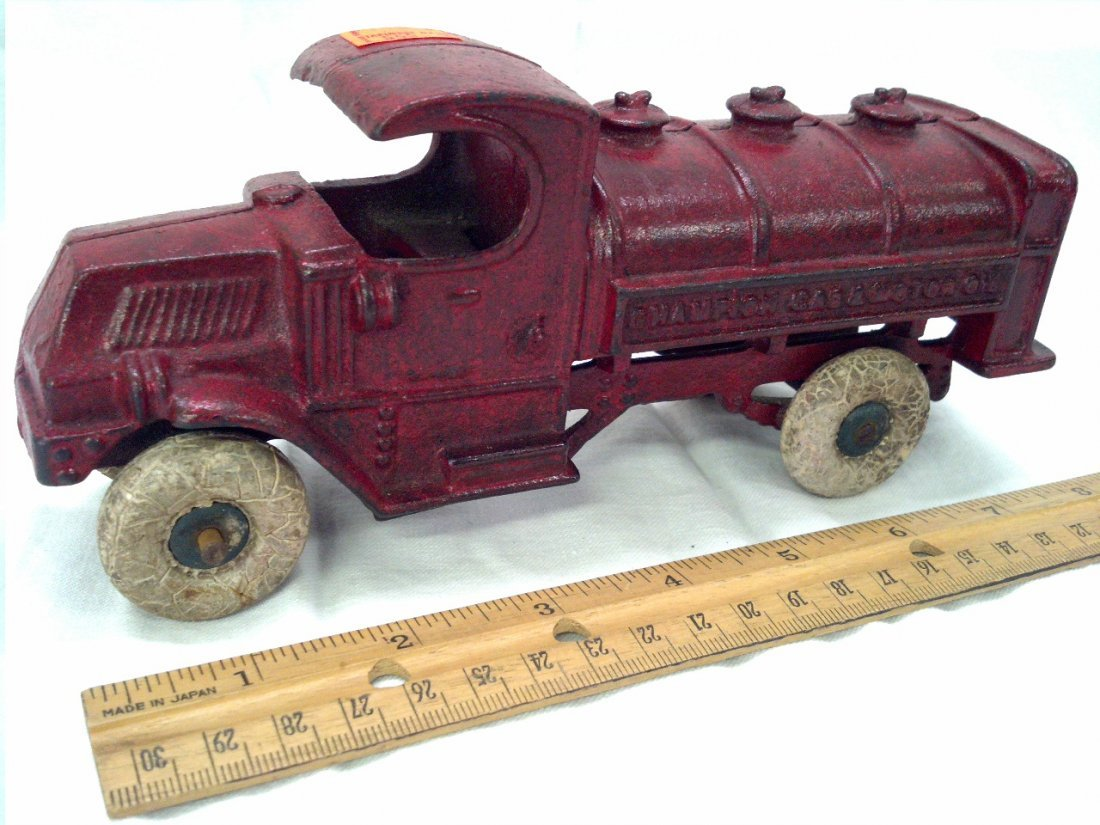 Champion gas & motor oil toy truck