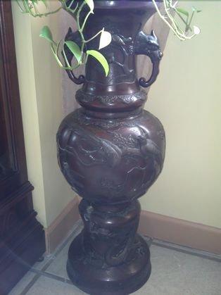 "36"" Awesome Bronze Oriental Piece"