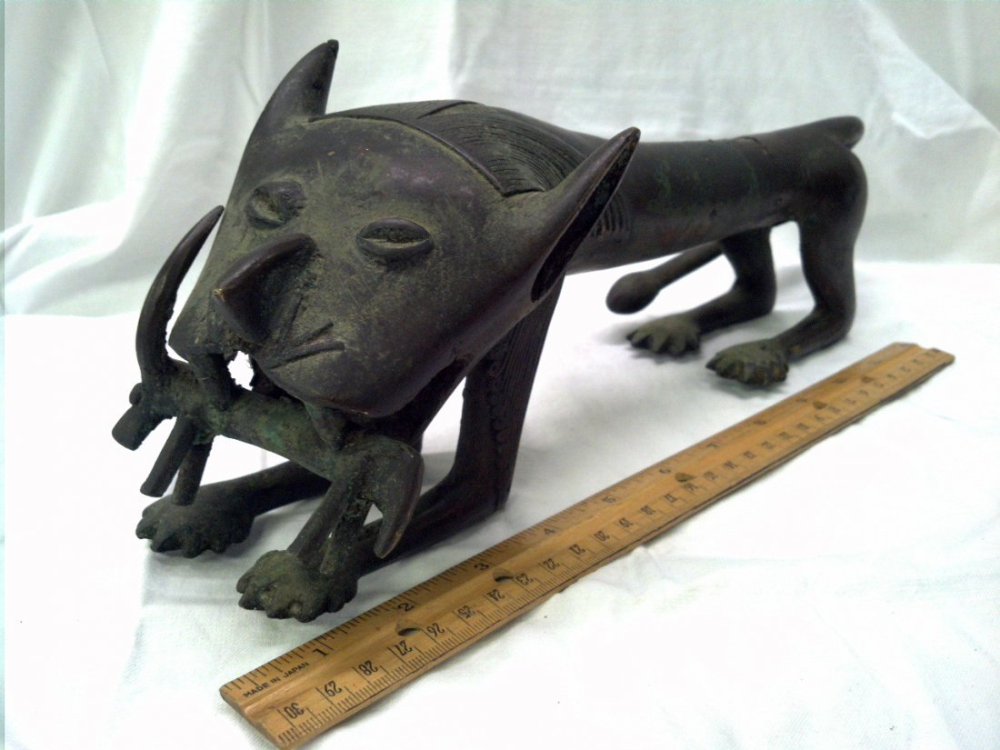 Egyptian Bronze Feline Atomically Correct