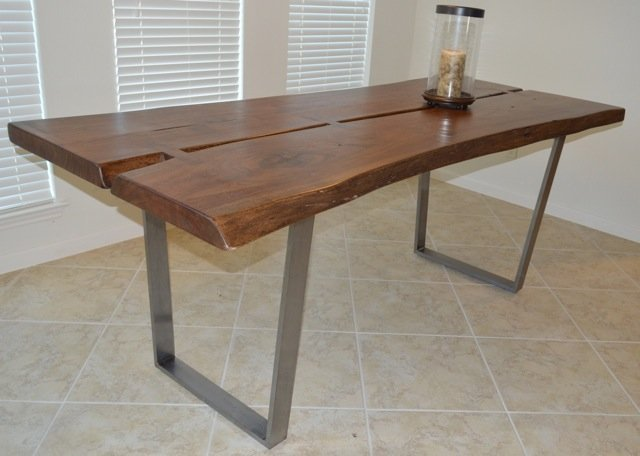 New: Contemporary Distressed Wood Table