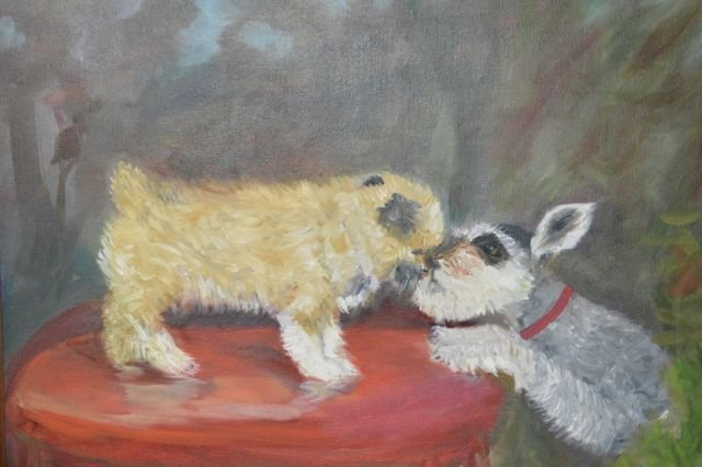 Making Friends Oil On Canvas