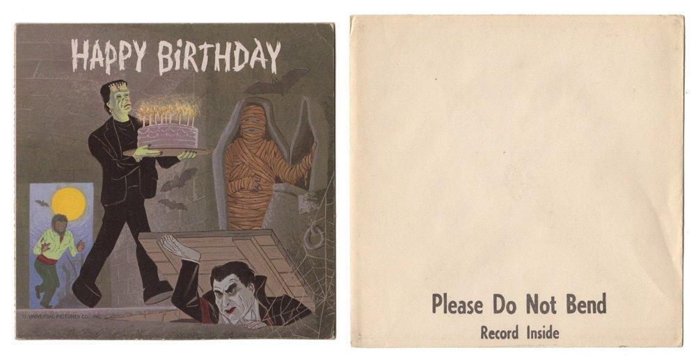Frankenstein & Dracula Birthday Card Record