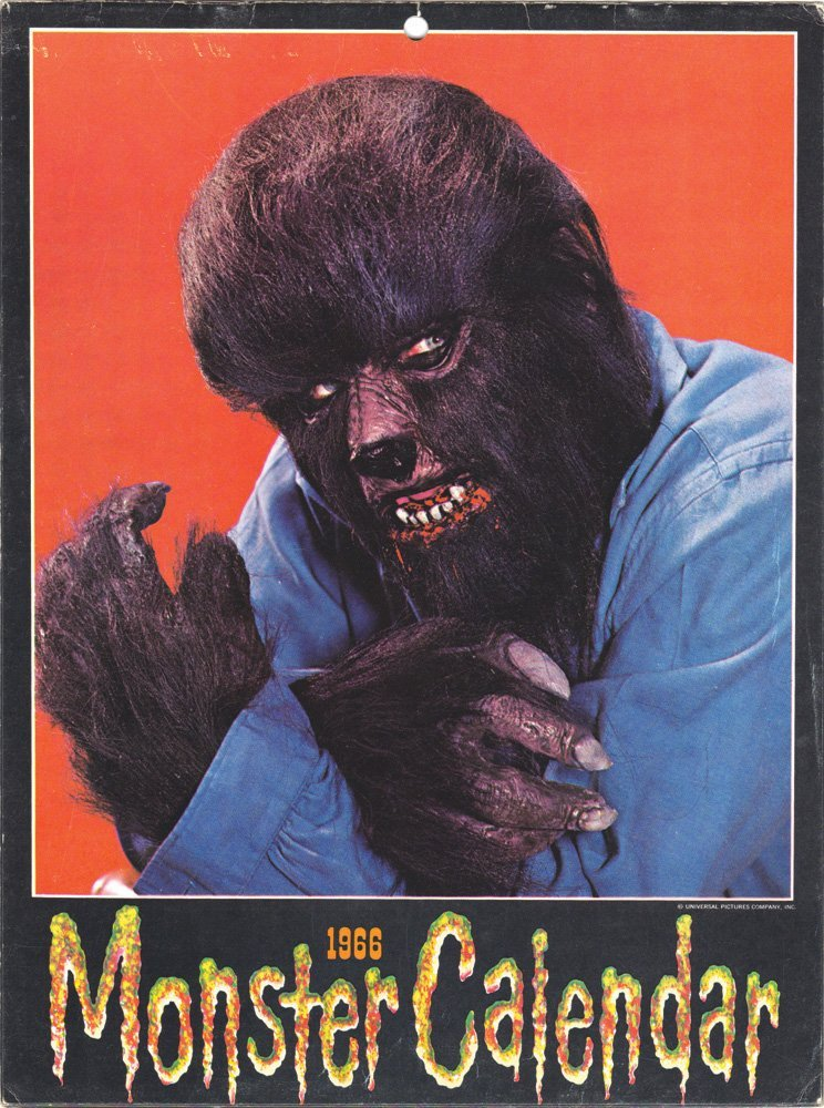 Original Don Post 1966 Monster Calendar