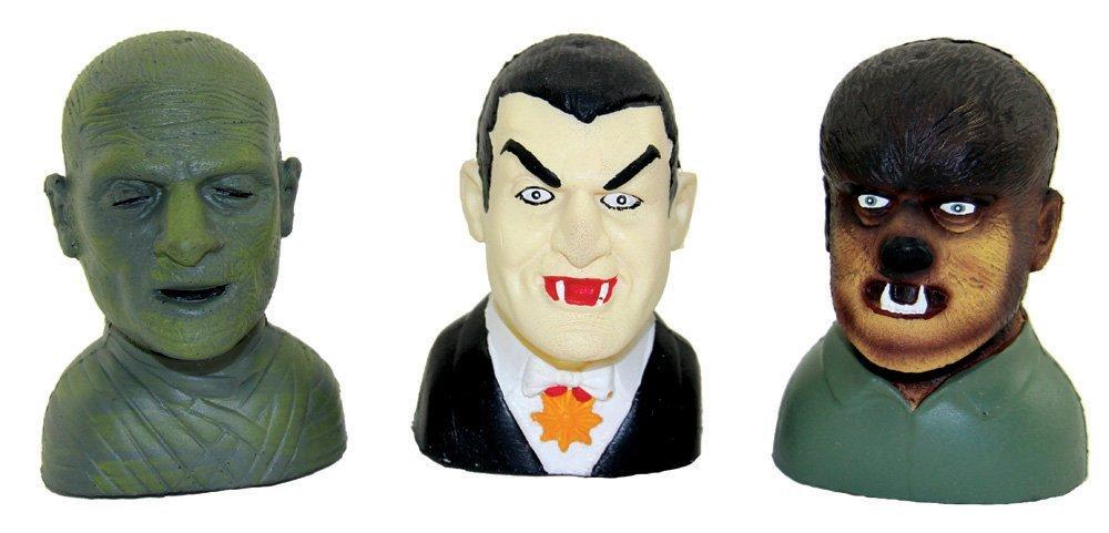 Set of 3 Universal Monsters Talking Head Crushers