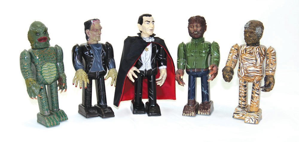 Set of 5 Japanese Universal Monster Wind-up Toys