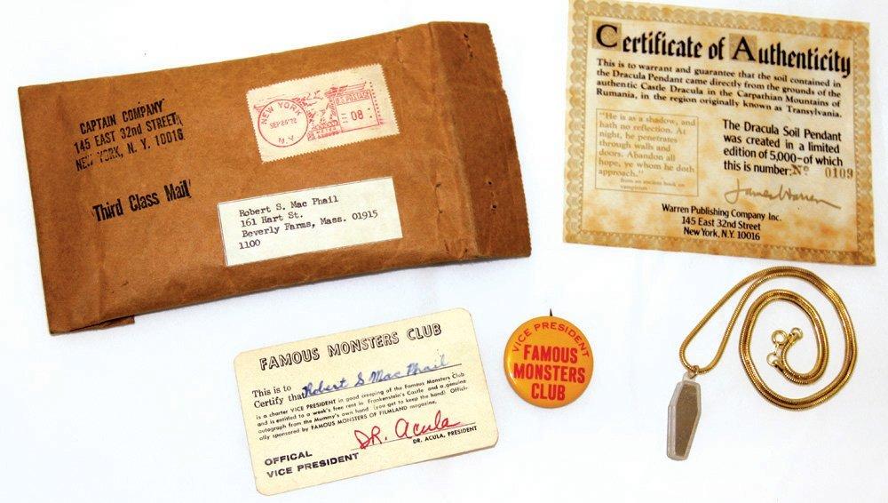 Famous Monsters of Filmland Fan Club kit