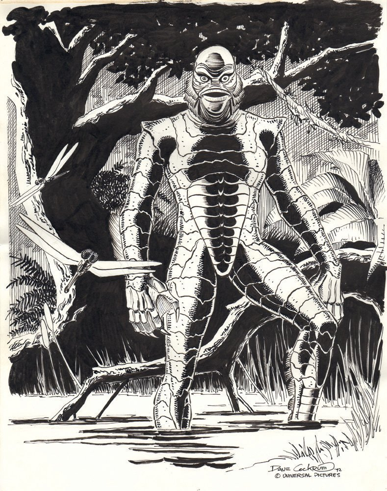 Dave Cockrum Creature from the Black Lagoon Art