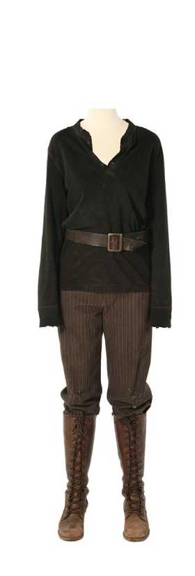 blacksparrow inc hunger games costume auction katniss hunting costume