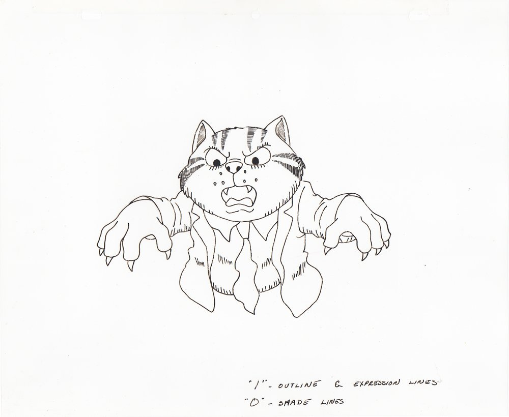 Color Model Cel of Fritz from Fritz the Cat
