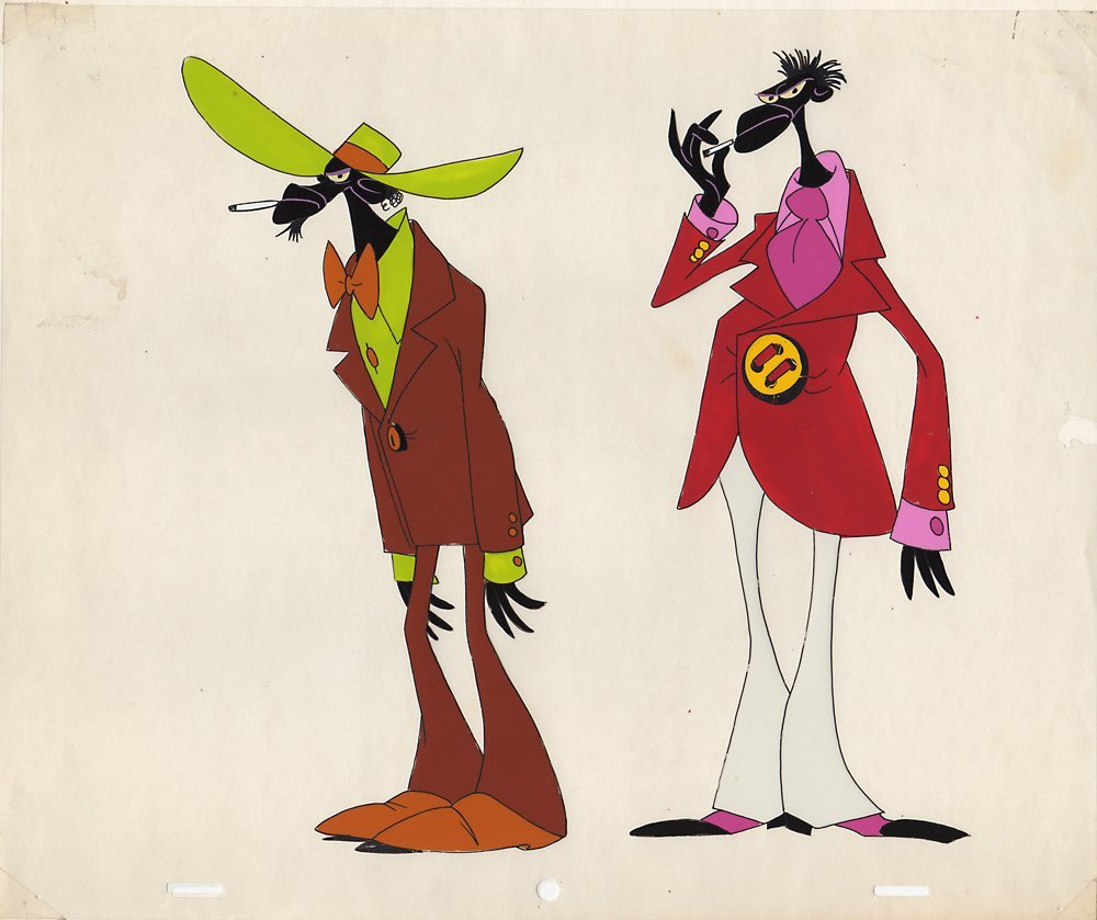 Original Production Model Cel from Heavy Traffic