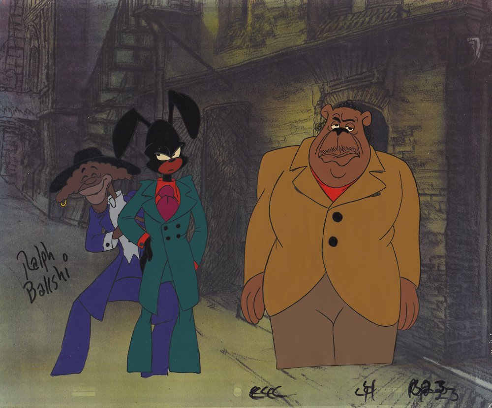 Ralph Bakshi Signed Production Cel from Coonskin