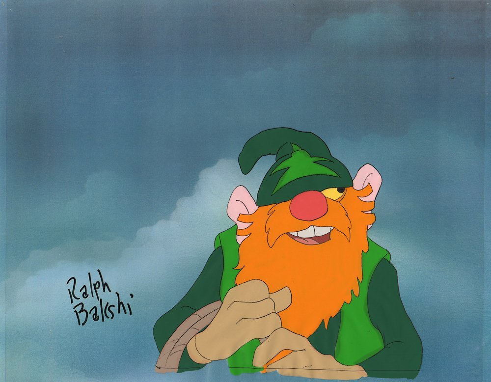 Bakshi Signed Cel & Drawing of Avatar - Wizards