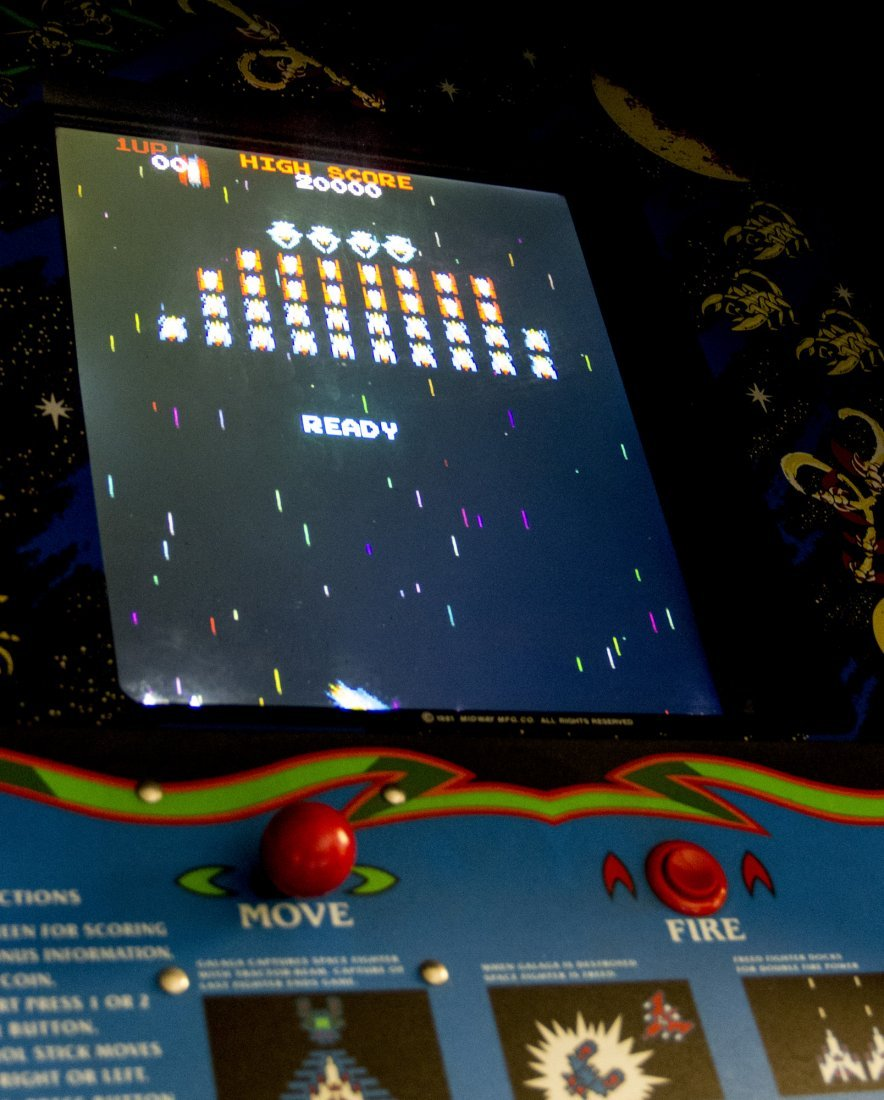 Galaga Screen-used Working Arcade Game Console from - 3
