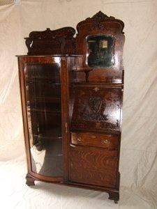 3: Antique Quarter Sawn Oak Side by Side Secretary