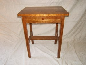 9: Antique Mission Oak Telephone Stand
