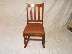 11: Antique Mission Oak Sewing Rocker
