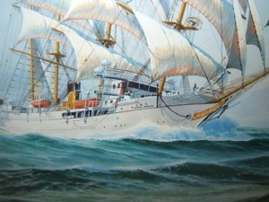 332: Maritime Ship Painting by Mitchell - 6