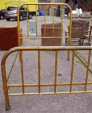 Antique Metal Bed w/ Rails Signed ABC Beds