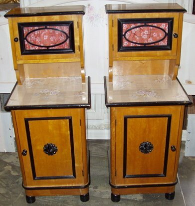 7: Antique Satin Wood Night Stands