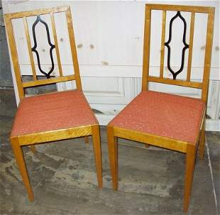 Antique Satin Wood Bedroom Chairs