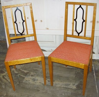 10: Antique Satin Wood Bedroom Chairs