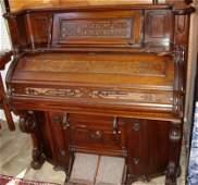133: Victorian Burl Walnut Pump Organ