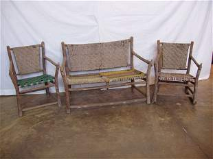 3 pc. Signed Old Hickory Porch Set